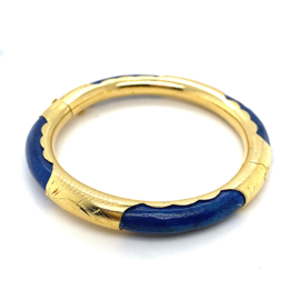 Occasion Indiase gouden bangle met lapis lazuli