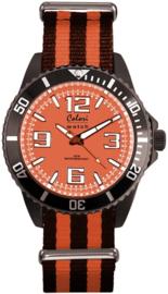 Colori 5-COL156 - Horloge - Siliconen - Oranje - Ø 40 mm
