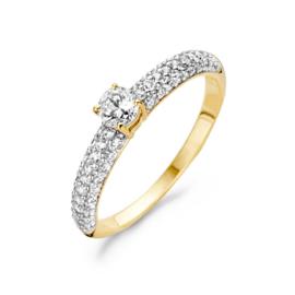 Blush Ring 1146BZI - Geel en Wit Goud met Zirconia