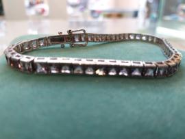 Occasion zilveren tennis armband met amethist