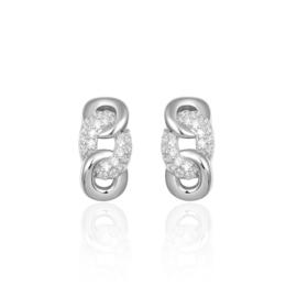 Zilveren massieve oorbellen