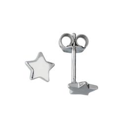 Lilly oorknopjes ster - zilver - gerodineerd - 6mm