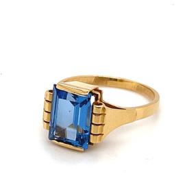 Occasion gouden ring met topaas edelsteen