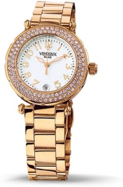 VENDOUX The Opera Rose Gold/White MR31150-02 - Horloge - Dames - Rosékleurig - Ø 34mm