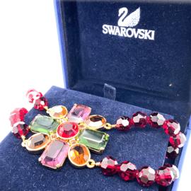 Occasion originele kleurrijke Swarovski collier met hanger