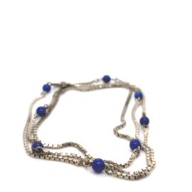 Occasion lang venetiaans collier met blauwe kralen
