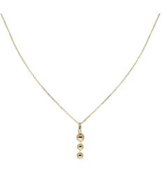Glow - Gouden collier met hanger 40+2cm
