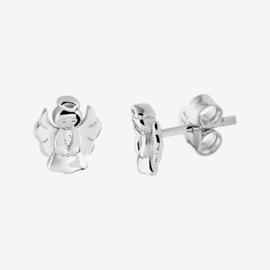 Zilveren oorknoppen engel