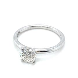 Occasion witgouden solitair ring met diamant 1.00ct