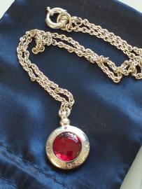 occasion vintage Joop collier met rode steen