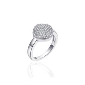 AG925 Zilveren dames ring pavé