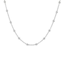 Zilveren collier bolletjes 2,5 mm 40 + 4 cm