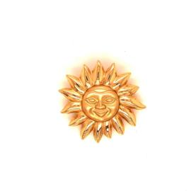 Geelgouden broche zon