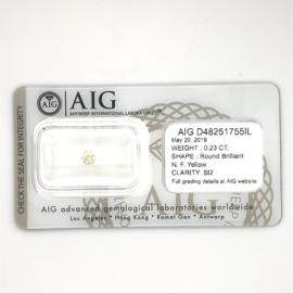 AIG diamant - 0.23 ct. - rond briljant - SI2 N-F