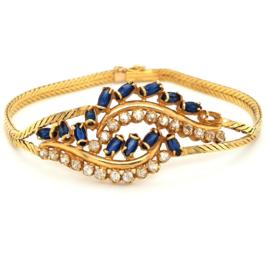 Occasion gouden armband met opengewerkt ornament