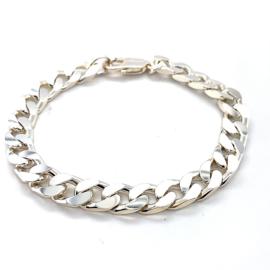 Massieve zilveren grove gourmet armband