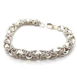 Occasion Surinaamse massief zilveren armband