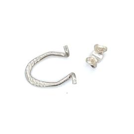 Zilveren draad oorclips