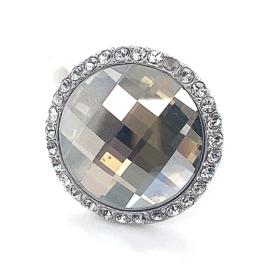 Nieuwe zilveren ring van Zinzi met zwarte zirkonia