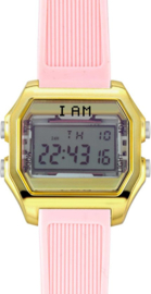 I AM THE WATCH - Horloge - 40mm - Goudkleurig/roze - IAM-KIT14
