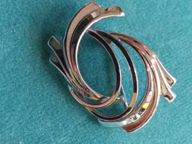 Occasion broche modern zilver