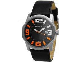 Prisma horloge P.1611 zwart oranje sport