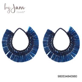 By jam oorhangers multicolor blauw