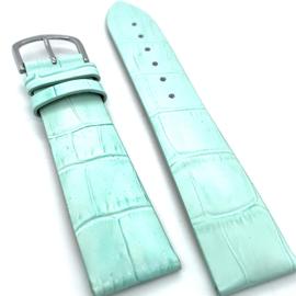 Lederen mint groene horloge band 22mm