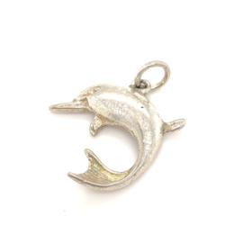 Occasion zilveren hanger of bedel dolfijn
