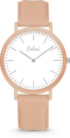 Colori Essentials 5 Horloge - Siliconen Band - Ø 40 mm - Beige