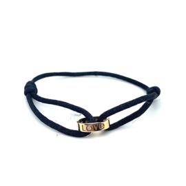 Occasion Cartier Love armband met satijnkoord