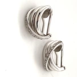Vintage gouden diamanten oorbellen
