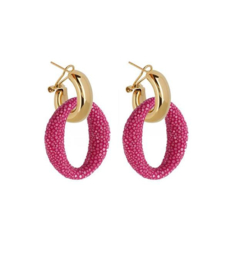AMJOYA Earrings Ibiza Hot Pink