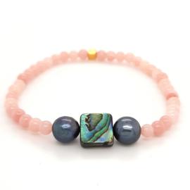 Cataleya armband met jade, parelmoer en parels