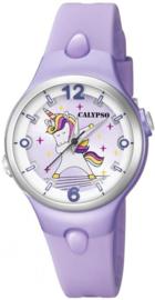 Calypso K5784/3 analoog unicorn horloge 34 mm 100 meter paars