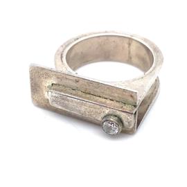 Occasion handgemaakte ring met zirkonia