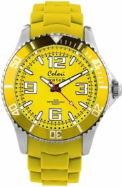 Colori 5-COL053 - Horloge - Geel - Ø 40 mm