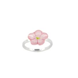 Zilveren Ring Flower