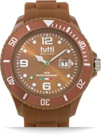 Tutti Milano TM001BR- Horloge - 42 mm - Bruin - Collectie Pigmento