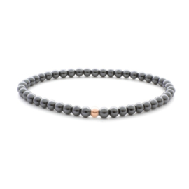 Sparkling jewels 4mm Additional Bracelet Hematite - Rose gold Bead