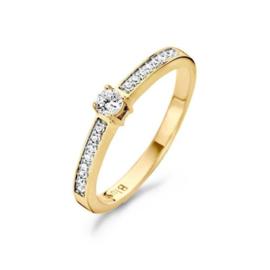Blush Ring 1126BZI - Geel en Wit Goud met Zirconia