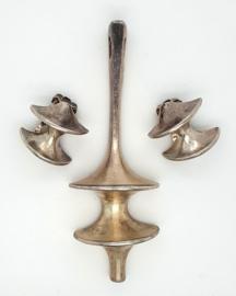 Occasion zilveren set moderne vormen