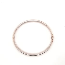 Zilveren bangle 4mm