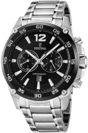 Festina F16680/4 Chronograaf - Horloge - Staal - Zilverkleurig - 47 mm