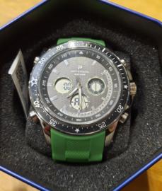Nieuw Paterson Chronograaf herenpols horloge groene band