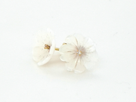 Cataleya Earrings Flower Mother of Pearl white