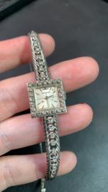 Vintage Witgouden dames horloge