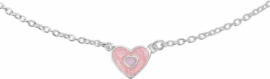 The Jewelry Collection Ketting - Hart - 36+2cm - Zilver