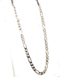 Zilveren figaro collier 50cm