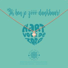 Heart to Get - Hart Voor De Zorg - Ketting - Rosé